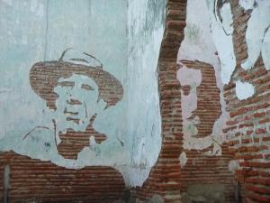 Cuba, peinture murale à Camagüey